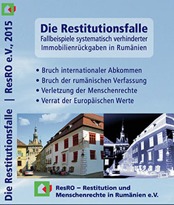 Booklet der CD Die Restitutionsfalle